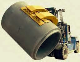 Cement pipe roll clamp
