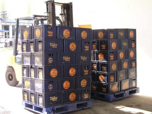 Double Sideshifter Use In Beverage Industry